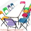 Vendo sillas y mesas infantiles para eventos y talleres