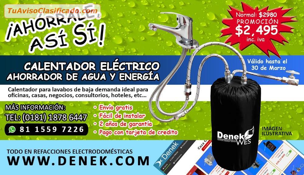 Calentador el ctrico ahorrador de agua y energ a - Calentador electrico de agua precio ...