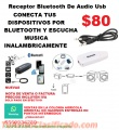 RECEPTOR USB DE AUDIO BLUETOOTH