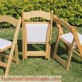 Vendo Sillas plegables de madera tipo Avant Garde
