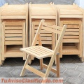 Sillas Plegables de Madera modelo Country Natural