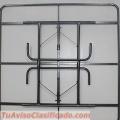 Mesa cuadrada plegable de fibra de vidrio