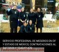 SERVICIO DE MESEROS PARA 15 DE SEPTIEMBRE