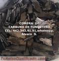COMPRA DE PEDACERIA DE CARBURO DE TUNGSTENO